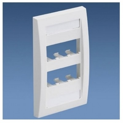 [PANDUIT] CFPE6IWY Panduit FacePlate 6 Module Space 6구 플레이트